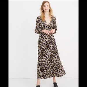 Madewell French Floral Wrap-Front Maxi Dress Sz 6